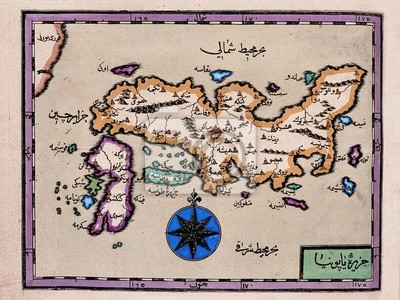 Wall mural Arabic old map