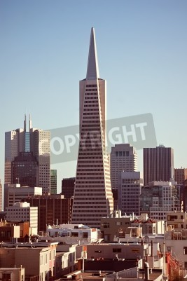 Wall mural Architecture of San Francisco, view from high point