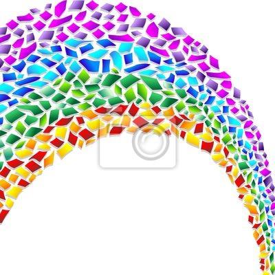 Arcobaleno Coriandoli Astratto-Confetti Rainbow Abstract