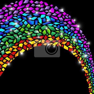 Arcobaleno Coriandoli Astratto-Confetti Rainbow Abstract-Vector