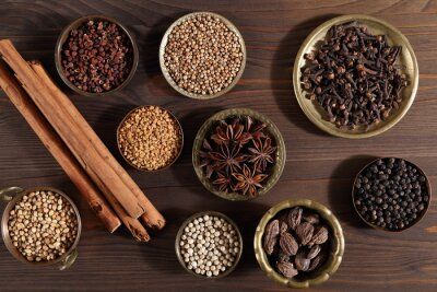 Wall mural Aromatic spices.