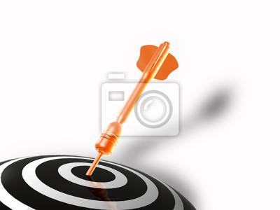 Arrow on the target