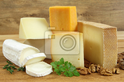 Asorted cheeses