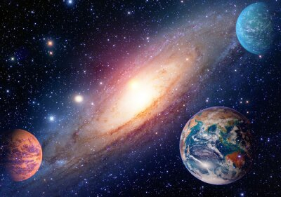 Wall mural Astrology astronomy earth outer space solar system mars planet milky way galaxy. Elements of this image furnished by NASA.