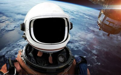 Wall mural Astronaut in outer space