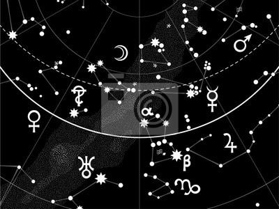 Astronomical Celestial Atlas (Fragment)