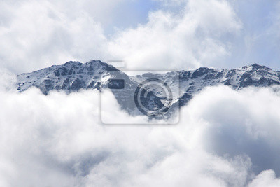 Atlas mountains in clouds