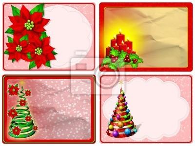 Auguri Natale-Merry Christmas Cards-Joyeux Noël Cartes