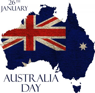 Wall mural Australia day poster