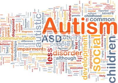 Autism background concept