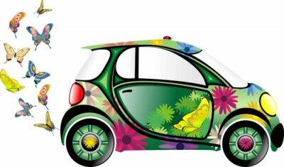 Auto Ecologica-Ecological Car-Vector