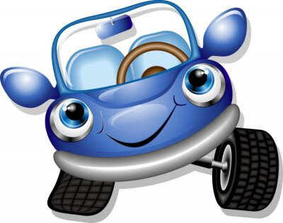 Wall mural Automobile Cartoon-Baby Car-Vector