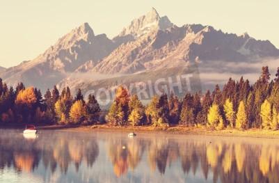 Wall mural Autumn in Grand Teton National Park, Wyoming