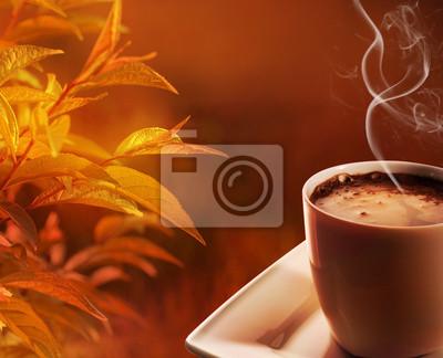 autumn morning coffee