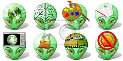 Avatar Alieno Icona-Avatar Alien Icone-2