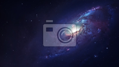 Wall mural Awesome spiral galaxy many light years far from the Earth. Elements furnished by NASA