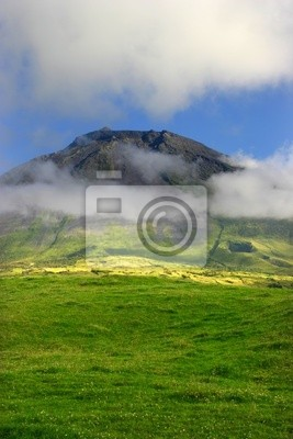 azores big pico mountain at pico island