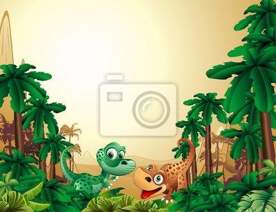 Baby Dinosaur Baby Dinosaur Background - Tropical Background