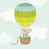 Cute air balloons background for design and scrapbook for Belly button bears wall mural