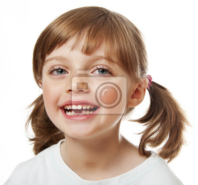 baby tooth  - little girl with missing teeth