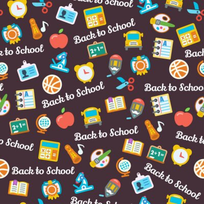 Wall mural Back to School background
