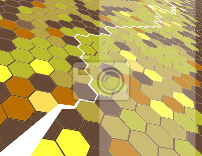 Background featuring hexagons.