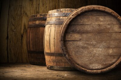 Wall mural background of barrel