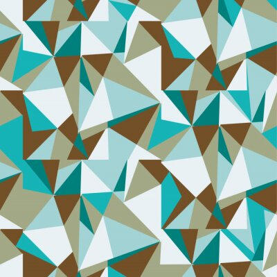Wall mural background triangles