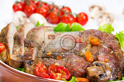 Baked meat