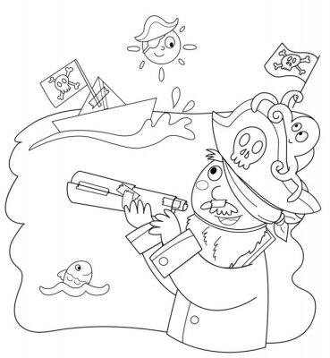 Wall mural Bambino vestito da pirata