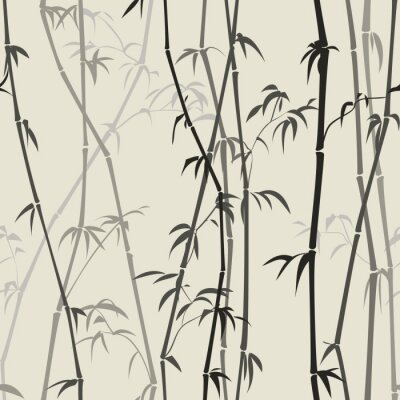 Wall mural bamboo background