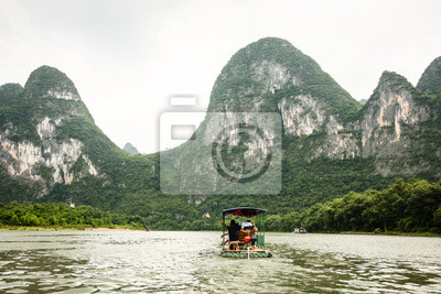 Bamboo boat in Li river china