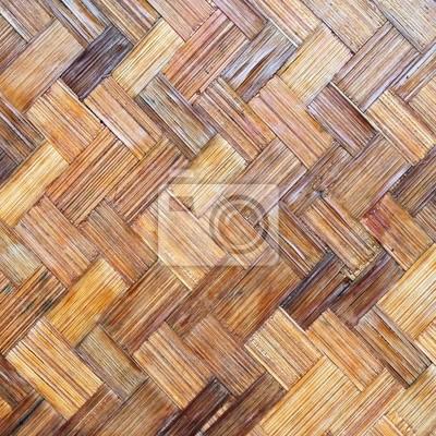 Bamboo wood texture ,Thai handwork