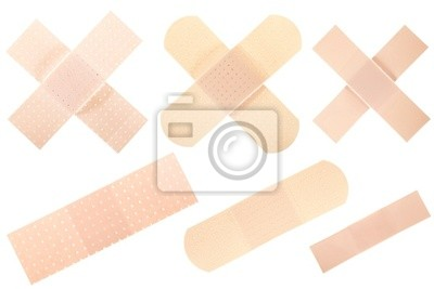 Wall mural Bandages collection isolated on white