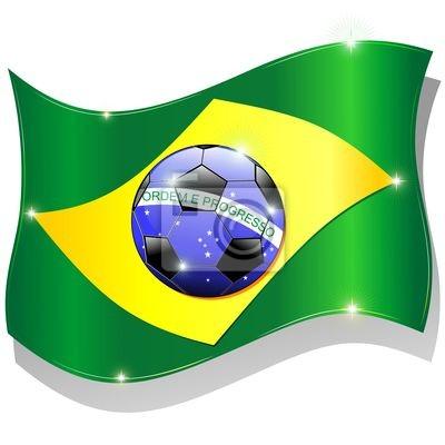 Bandiera Brasile Calcio 2014 Brazil Flag Soccer Championship