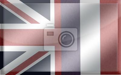 Bandiera Inglese Francese