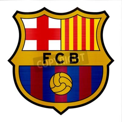 Wall mural barcelona metallic logo illustration