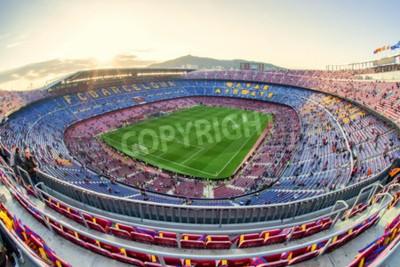 Wall mural BARCELONA, SPAIN - APRIL 19:  Football stadium on April 19, 2017 in Barcelona