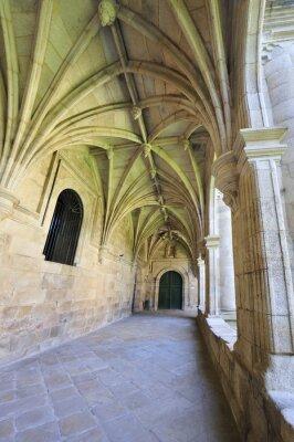 Wall mural baroque monastery cloister interior