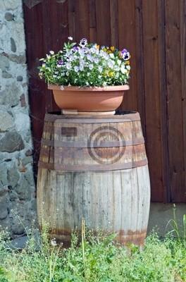 Wall mural barrel