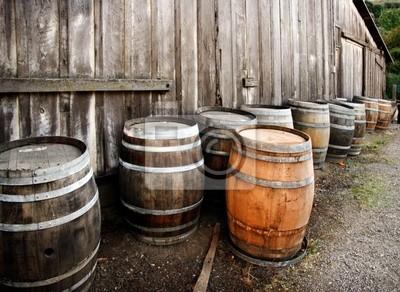 Wall mural barrels