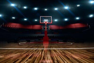 Wall mural Basketball court. Sport arena.