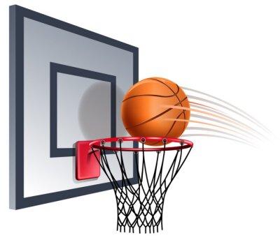 Wall mural basketball hoop