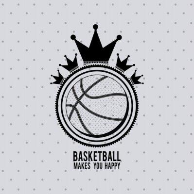 Wall mural basketball league design