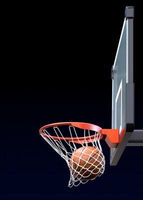 Wall mural Basketball shot