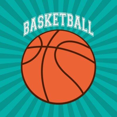 Wall mural Basketball sport design