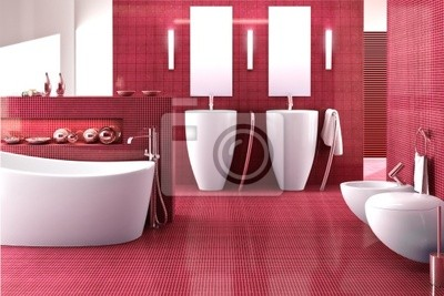 Bathroom in red