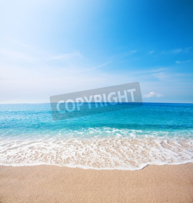 Wall mural beach and beautiful tropical sea