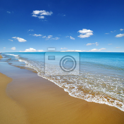 Wall mural beach and sea