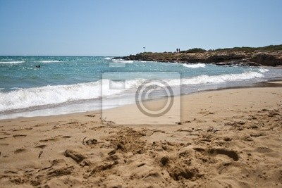 Beach on the island of Sicily - current